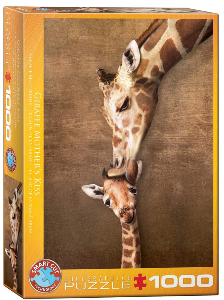 Eurographics 1000 Piece Puzzle Giraffe Kiss buy at www.puzzlesnz.co.nz