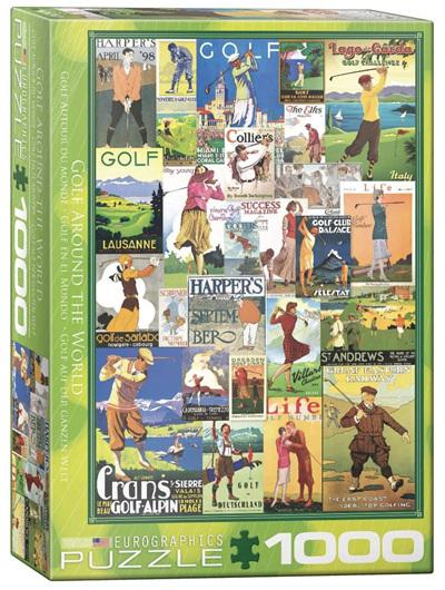 Eurographics 1000 Piece Jigsaw Puzzle: Golf Around The World