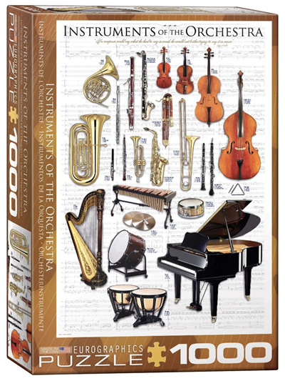 Eurographics 1000 Piece Jigsaw Puzzle: Instuments Of The Orchestra