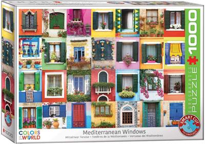 Eurographics 1000 Piece Jigsaw Puzzle: Mediterranean Windows