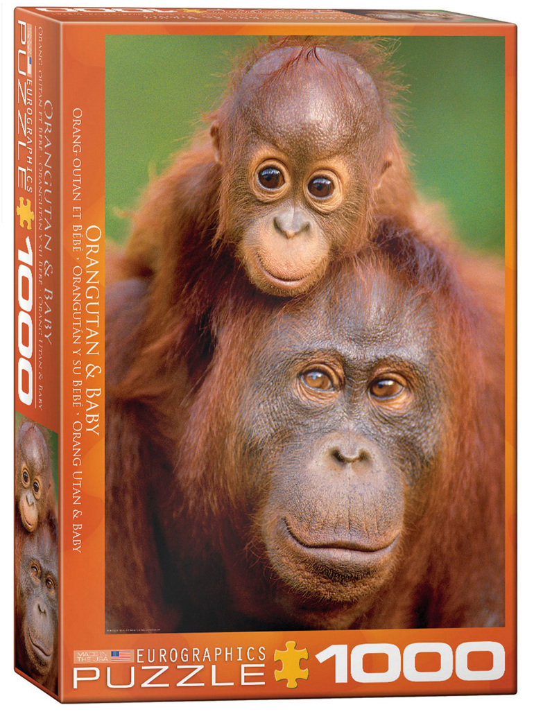 Eurographics 1000 Piece Puzzle: Orangutan & Baby buy at www.puzzlesnz.co.nz