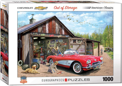 Eurographics 1000 Piece Jigsaw Puzzle: Out Of Storage 1959 Corvette