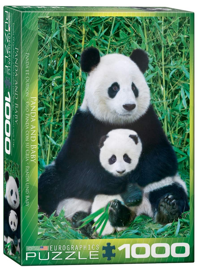 Eurographics 1000 Piece Puzzle Panda & Baby buy at www.puzzlesnz.co.nz