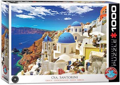 Eurographics 1000 Piece Jigsaw Puzzle: Santorini Greece