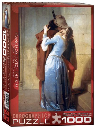 Eurographics 1000 Piece Jigsaw Puzzle: The Kiss - Francisco Hayez