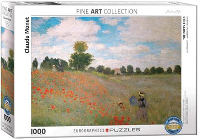 Eurographics 1000 Piece Jigsaw Puzzle: The Poppy Field - Monet
