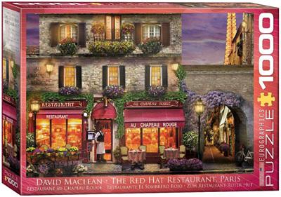 Eurographics 1000 Piece Jigsaw Puzzle: The Red Hat Restaurant Paris