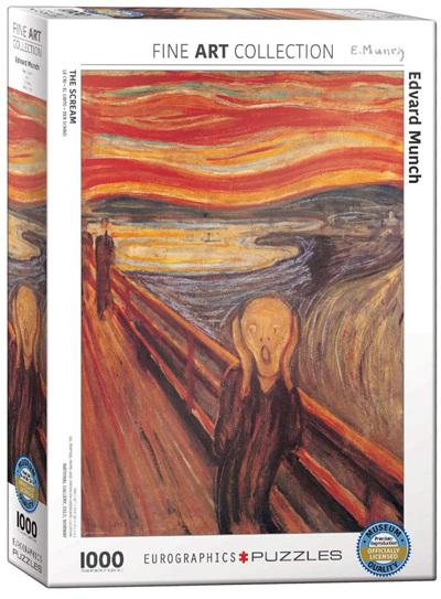 Eurographics 1000 Piece Jigsaw Puzzle: The Scream - Edvard Munch
