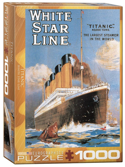 Eurographics 1000 Piece Jigsaw Puzzle: Titanic White Star Line