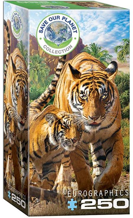 Eurographics 250 Piece Jigsaw Puzzle: Tigers