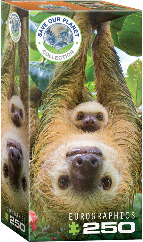Eurographics 250 Piece Puzzle Sloth buy at  www.puzzlesnz.co.nz