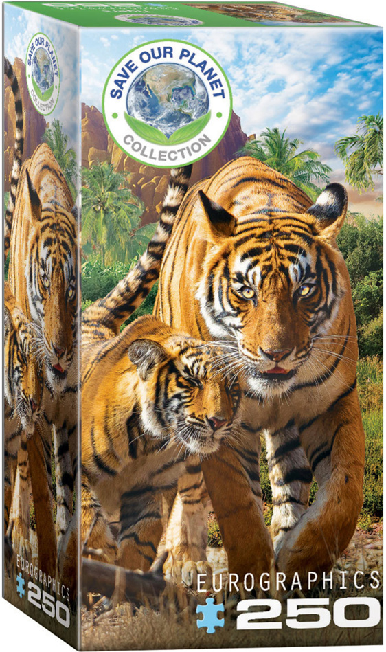 Eurographics 250 Piece Puzzle Tigers buy at  www.puzzlesnz.co.nz