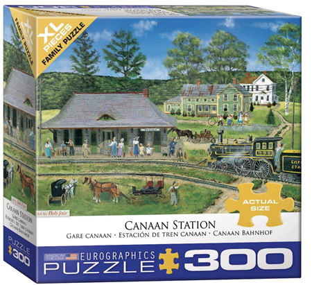 Eurographics 300 Large Piece Family Jigsaw Puzzle: Canaan Station