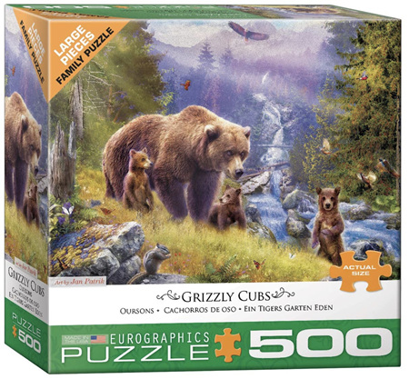 Eurographics 300 Large Piece Family Jigsaw Puzzle: Grizzly Cubs
