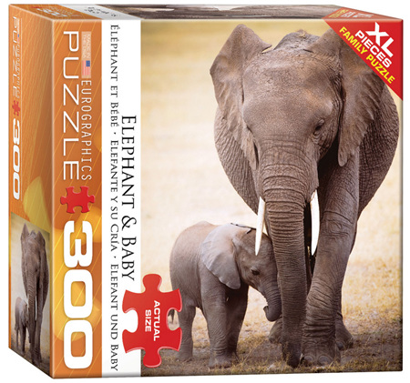 Eurographics 300XL Piece Family Jigsaw Puzzle: Elephant & Baby