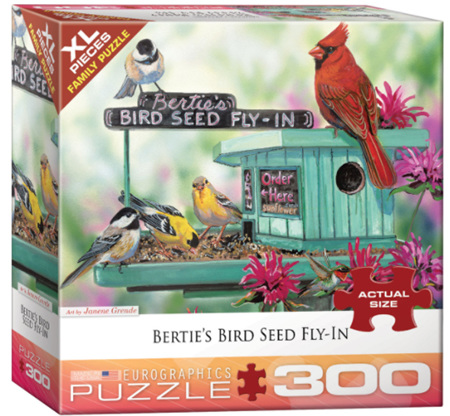 Eurographics 300XL Piece  Jigsaw Puzzle:   Bertie's Bird Seed Fly In