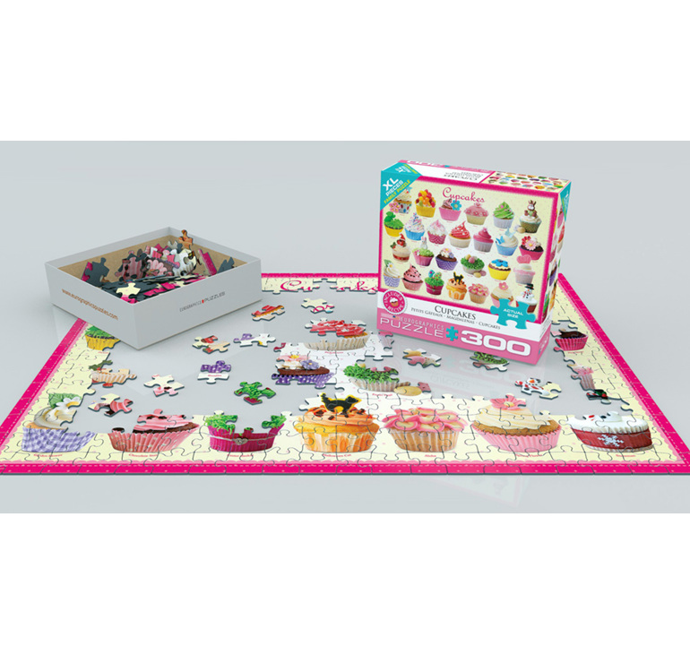 Eurographics 300XL Piece Jigsaw Puzzle  Cupcakes buy at www.puzzlesnz.co.nz