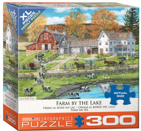 Eurographics 300XL Piece  Jigsaw Puzzle:  Farm By The Lake