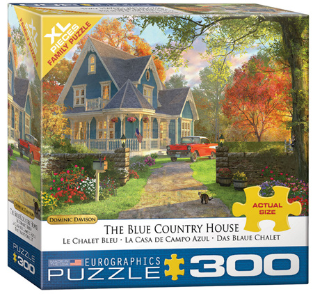 Eurographics 300XL Piece Jigsaw Puzzle: The Blue Country House