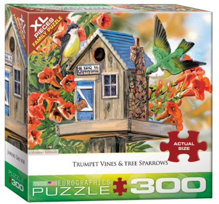 Eurographics 300XL Piece  Jigsaw Puzzle:   Trumpet Vines & Tree Sparrows