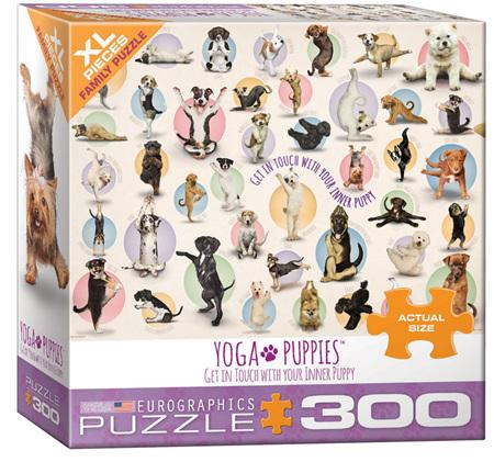 Eurographics 300XL Piece Jigsaw Puzzle: Yoga Puppies