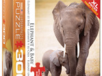 Eurographics 300XL Piece Puzzle Elephant & Baby buy at www.puzzlesnz.co.nz