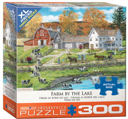 Eurographics 300XL piece   puzzle  Farm By The Lake at www.puzzlesnz.co.nz