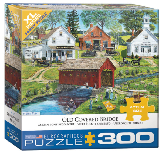 Eurographics 300XL piece puzzle Old Covered Bridge at www.puzzlesnz.co.nz