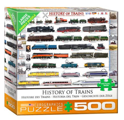 Eurographics 500 Large Piece  Jigsaw Puzzle:   History Of Trains