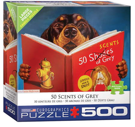Eurographics 500 Larger  Piece Jigsaw Puzzle: 50 Scents Of Grey