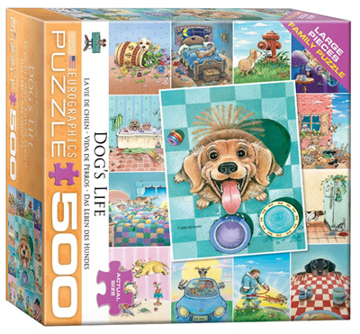 Eurographics 500 Larger Piece Jigsaw Puzzle: Dogs Life