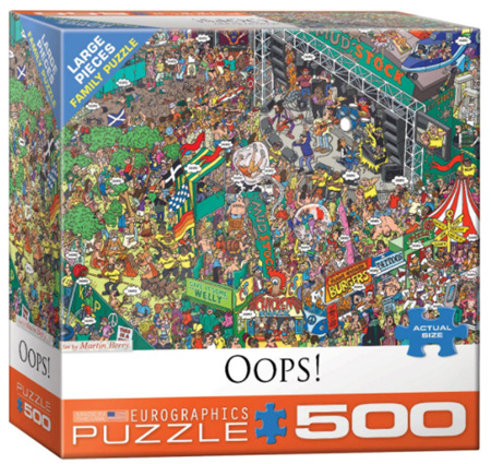 Eurographics 500 Larger Piece  Jigsaw Puzzle:  Oops!