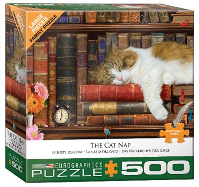 Eurographics 500 Larger Piece Jigsaw Puzzle: The Cat Nap