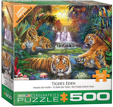 Eurographics 500 Larger Piece Jigsaw Puzzle: Tigers Eden