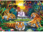 Eurographics 500 Larger Piece Jigsaw Puzzle: Tigers Eden at www.puzzlesnz.co.nz