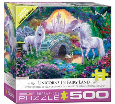 Eurographics 500 Larger Piece  Jigsaw Puzzle:  Unicorns In Fairyland
