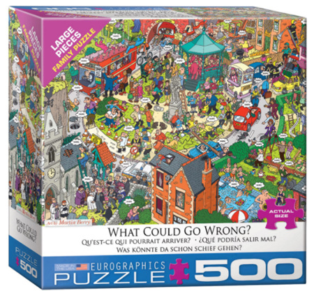 Eurographics 500 Larger Piece  Jigsaw Puzzle:  What Could Go Wrong?