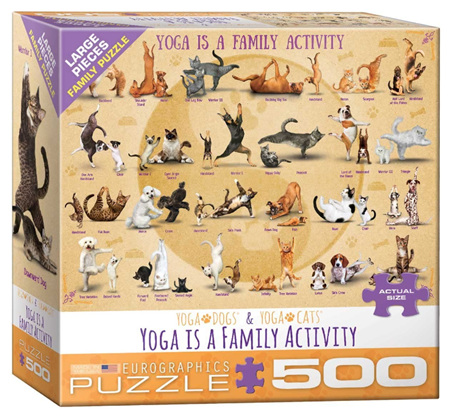 Eurographics 500 Larger Piece Jigsaw Puzzle: Yoga Is A Family Activity