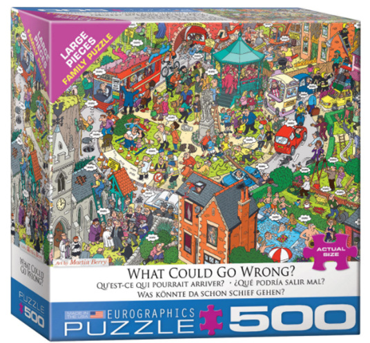 Eurographics 500 larger piece  puzzle What could go wrong at www.puzzlesnz.co.nz