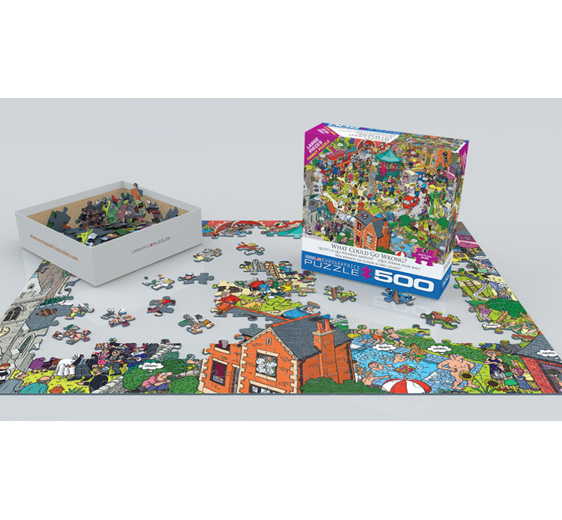 Eurographics 500 larger piece puzzle What could go wrong? at www.puzzlesnz.co.nz