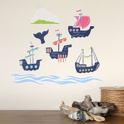 European Sailing Ships wall decal