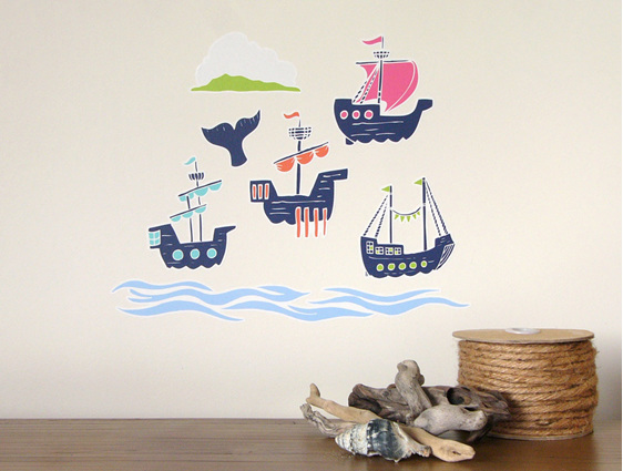 European Sailing Ships wall decal StickyTiny
