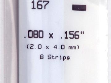 Evergreen 167 Strip Styrene - 2.0 x 4.0mm Strips