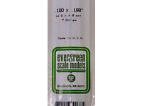 Evergreen 178 Strip Styrene - 2.5 x 4.8mm Strips