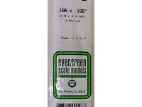 Evergreen 196 Strip Styrene - 4.8 x 4.8mm Strips