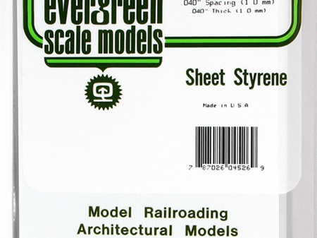 Evergreen 4526 Sheet Styrene 'Metal Siding' 1.0mm