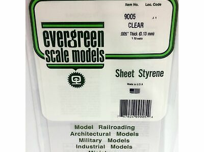 Evergreen 9005 Clear Sheets 0.13mm (3 Pack)