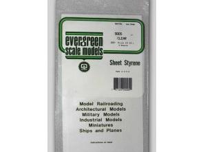 Evergreen 9005 Sheet Styrene Clear .13mm