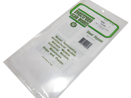 Evergreen 9006 Sheet Styrene Clear 0.25mm