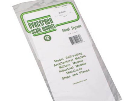 Evergreen 9015 Sheet Styrene Plain 0.4mm